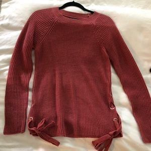 Rose Staccato sweater size S with side ties